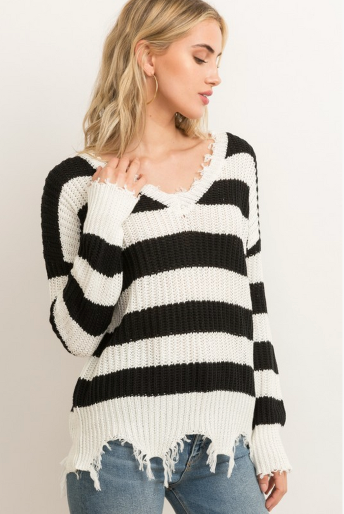 Fabulous In Fringe Sweater- 7318