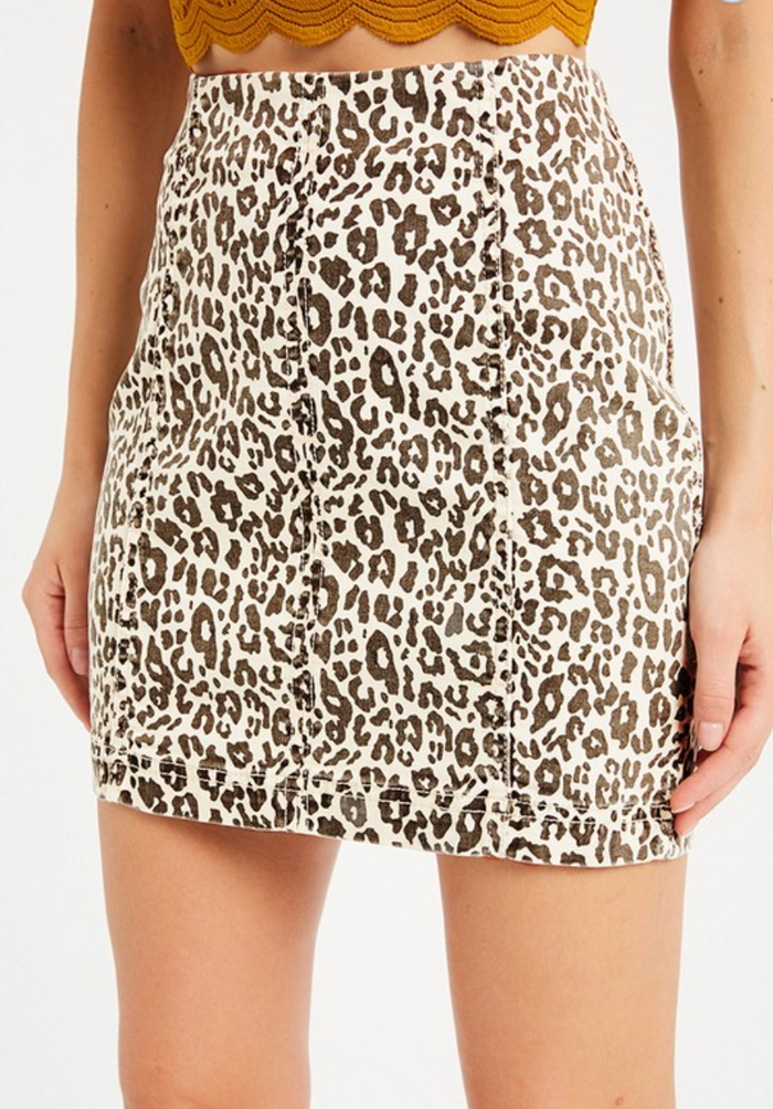 Lovely Leopard Skirt- WL19-2774