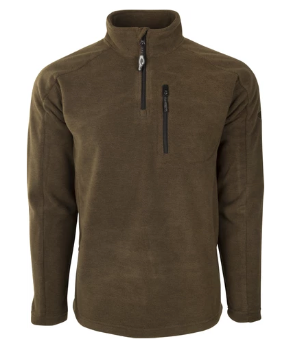 Drake Heathered Windproof 1/4 Zip- Brown