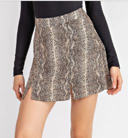 Hiss This Skirt- Brown- CS6342