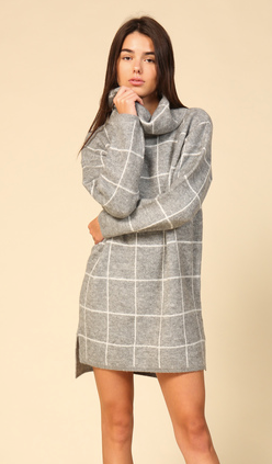 Plaid to Meet You Sweater Dress- ND31498