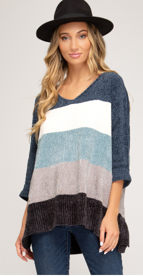 Winter Daze Sweater- Teal/Blue- SL8817R