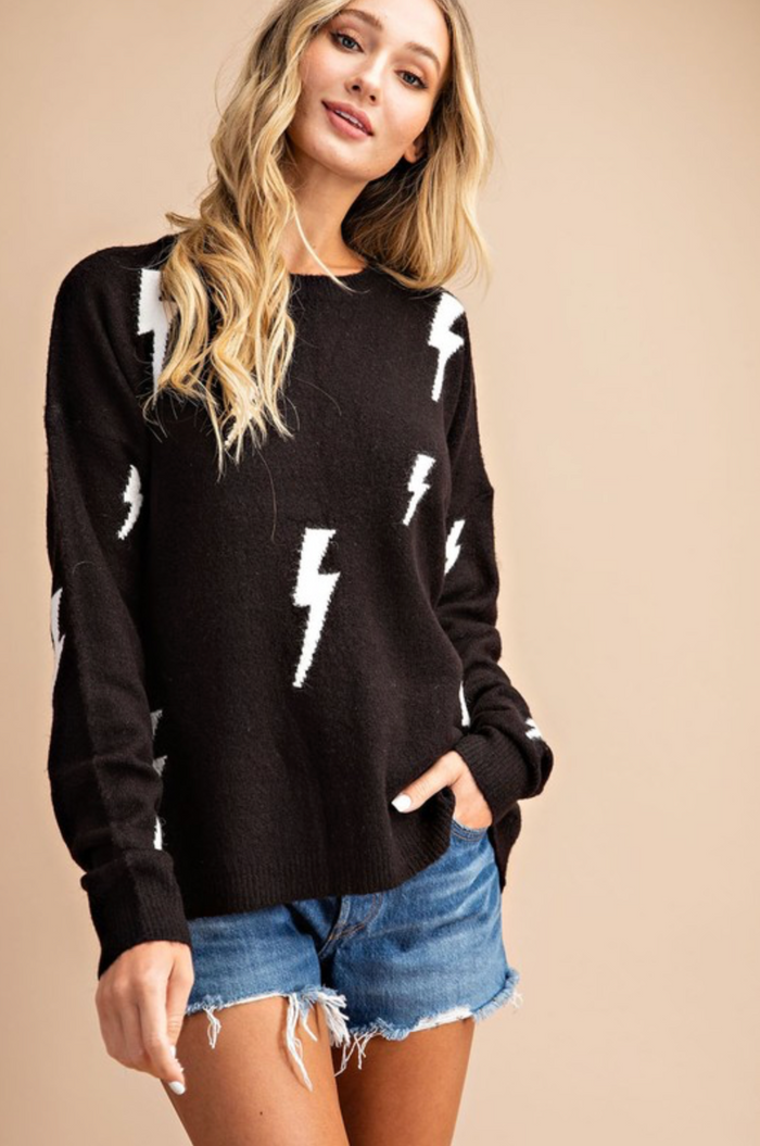 Lightning Strikes Sweater- SK2231