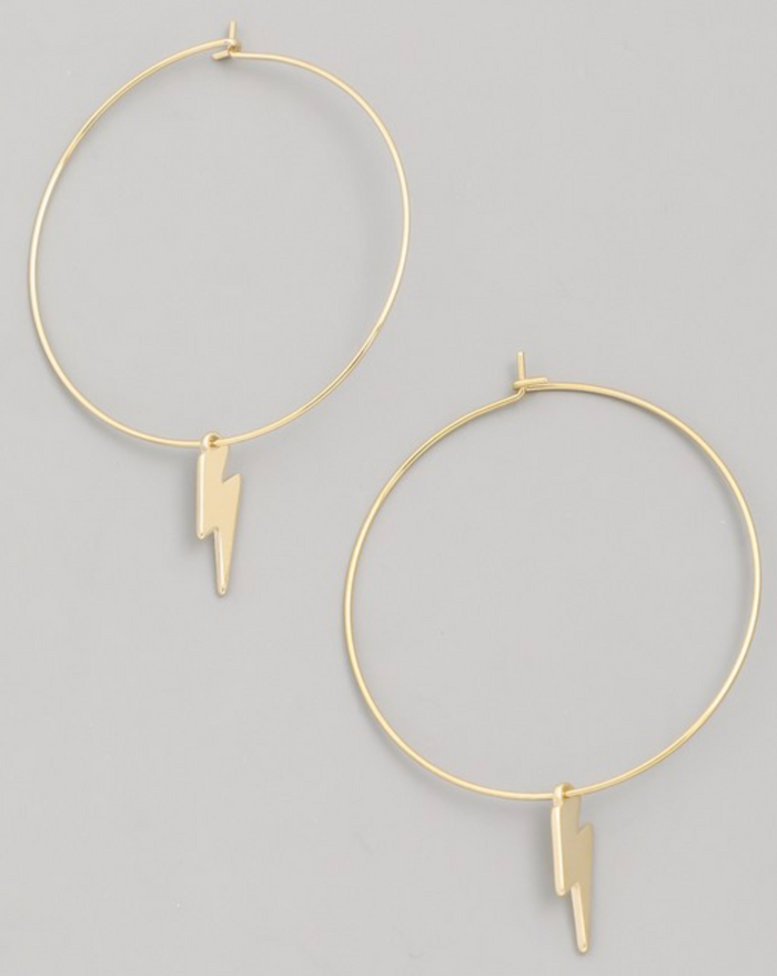 Holiday Lightning Hoop Earrings