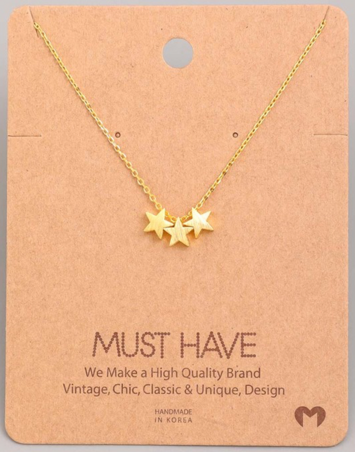 Holiday 3 Star Necklace