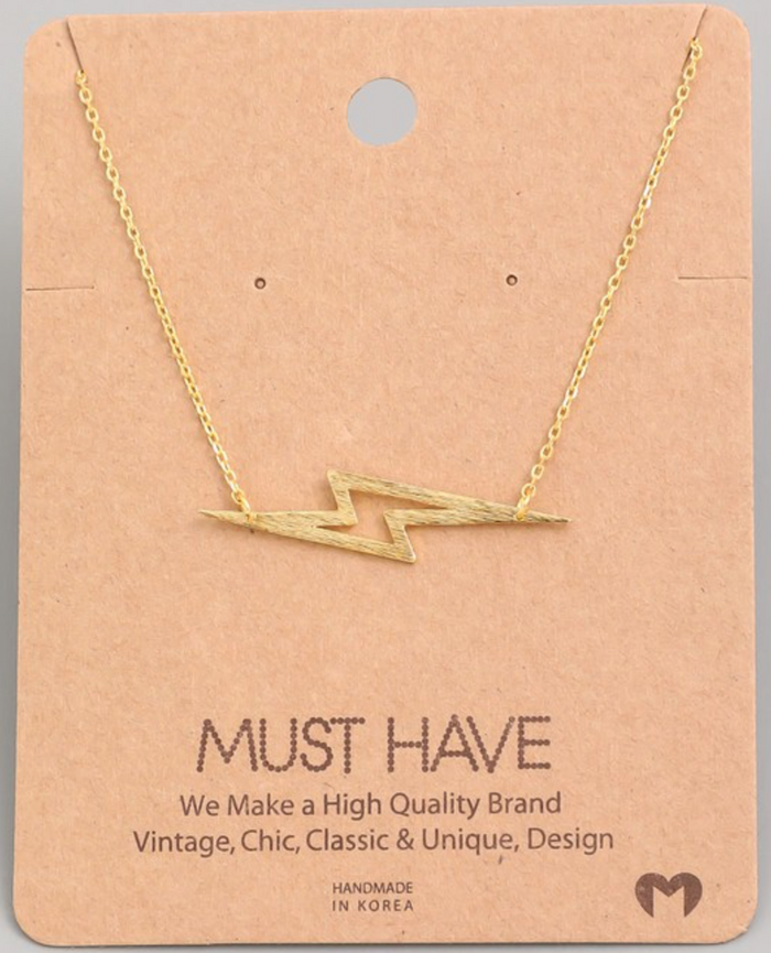 Holiday Sideways Lightning Necklace