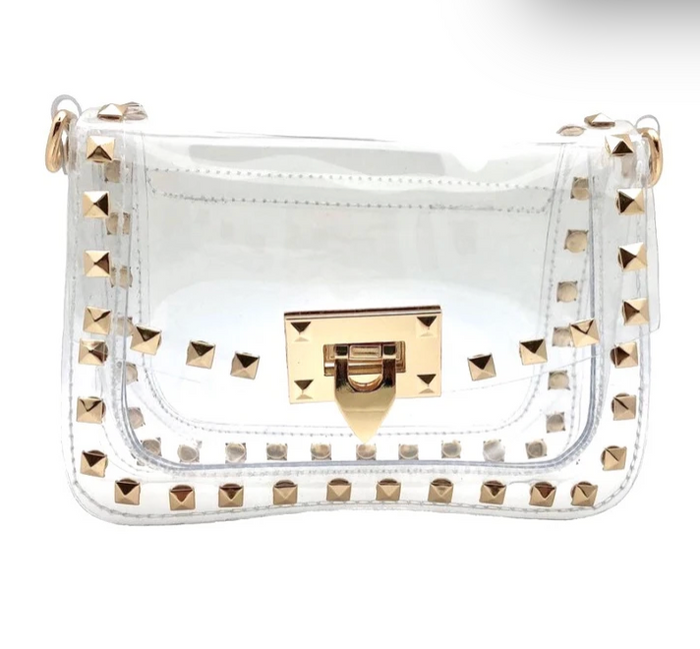 Valentine Studded Clear Bag