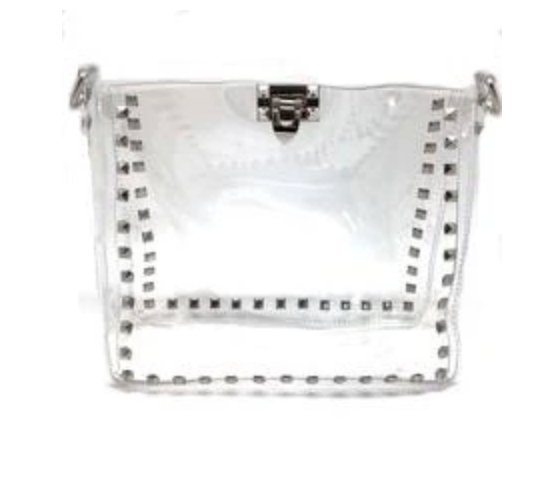 Sydney Studded Clear Tote