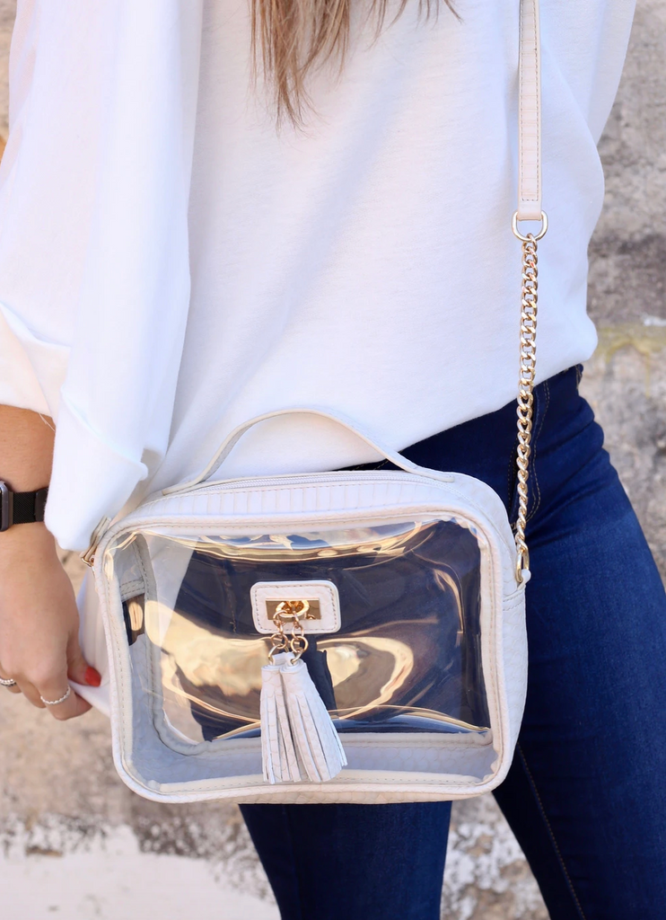 Tinzley Clear Bag With Tassels