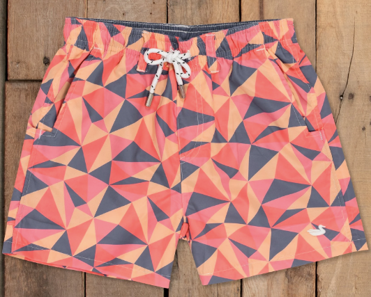 Southern Marsh Youth Dockside Swim Trunk- Facets