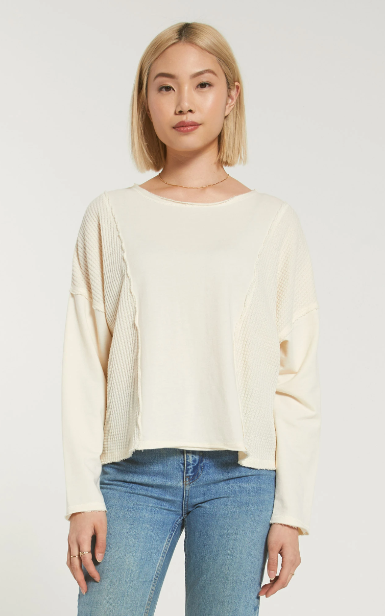 Z Supply Harper Thermal Skimmer Long Sleeve Tee