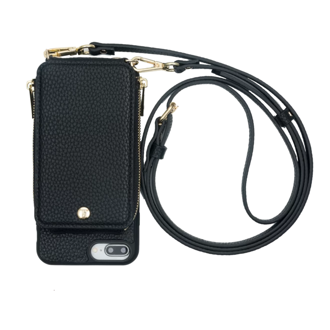 Iphone 6+/7+/8+ Crossbody- Black-  TK-MP-IP678PLUS-BLK