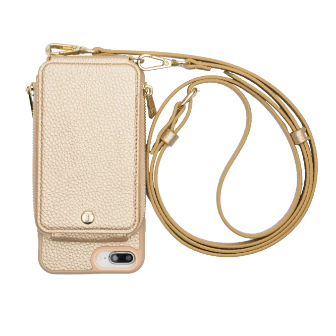 Iphone 6+/7+/8+ Crossbody- Gold- TK-MP-IP678PLUS-GD