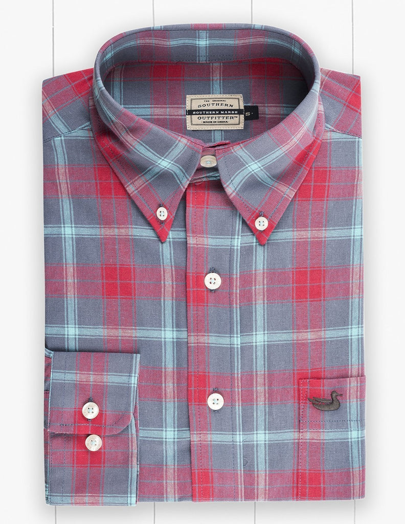 Southern Marsh Williamson Washed Plaid Dress Shirt