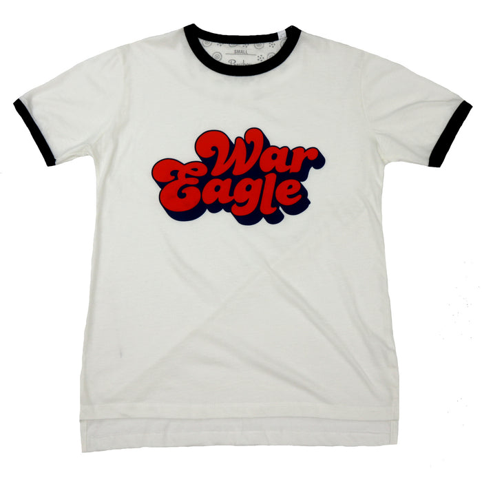 War Eagle Tee- White/Navy- AUB61103ANE- WHT/NVY