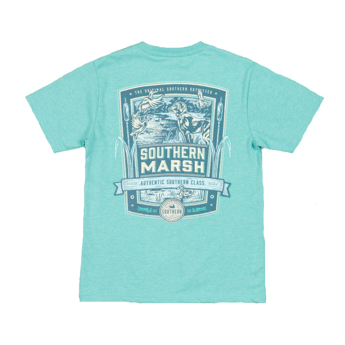 Southern Marsh Youth Genuine Duck Tee- Washed Kelly