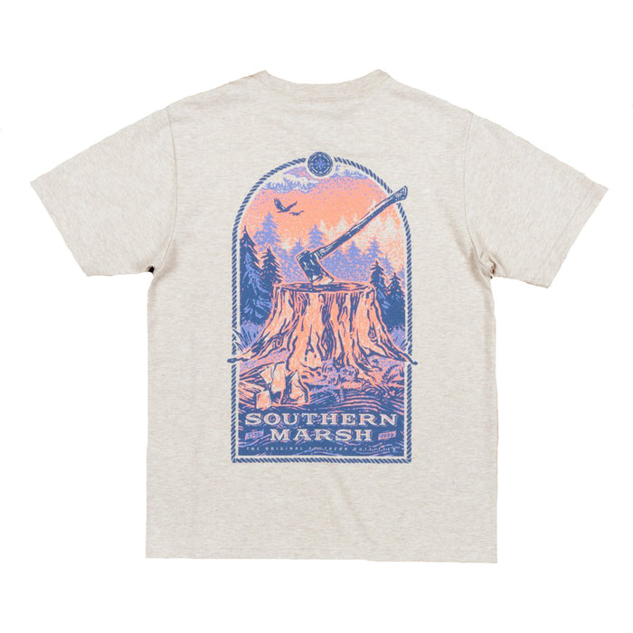 Southern Marsh Youth Relax & Explore Tee- Washed Oatmeal