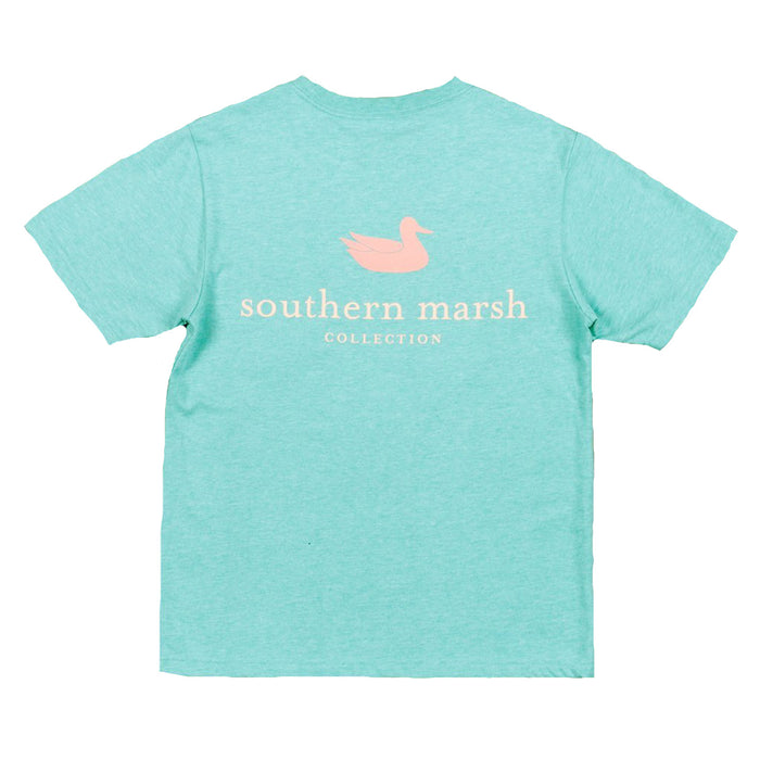 Southern Marsh Authentic Youth Tee- Washed Kelly