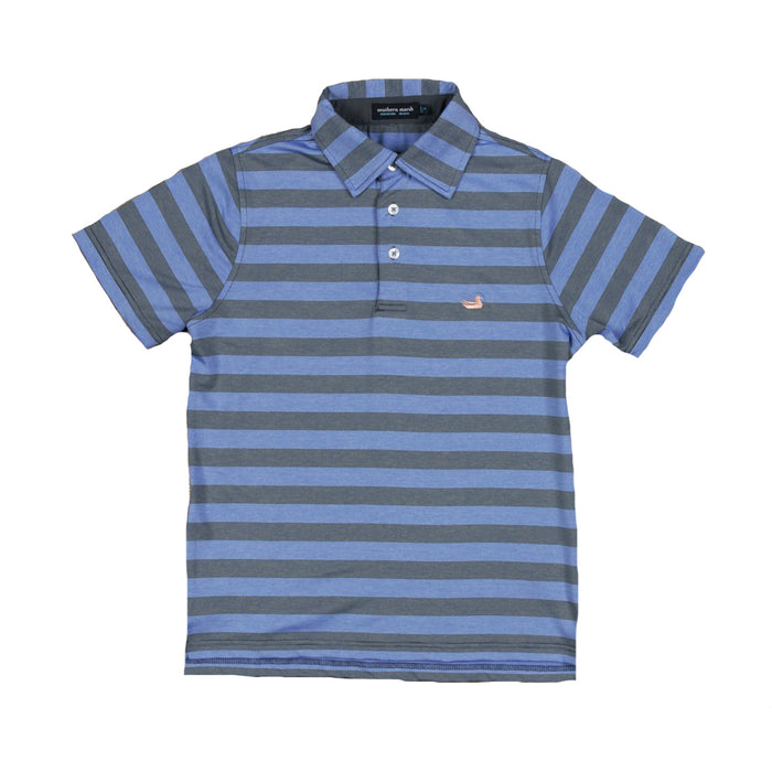 Southern Marsh Youth Bermuda Polo- Navy/French