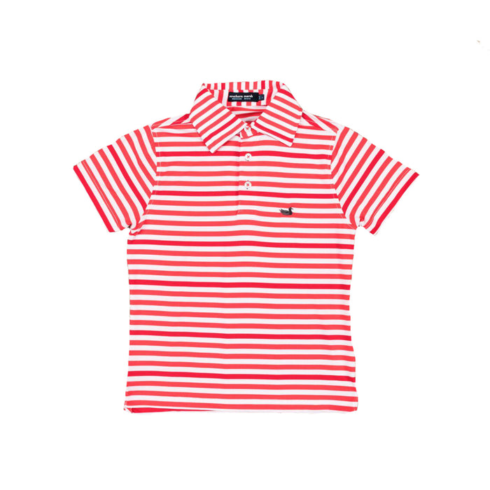 Southern Marsh Youth Newberry Polo- Red/White