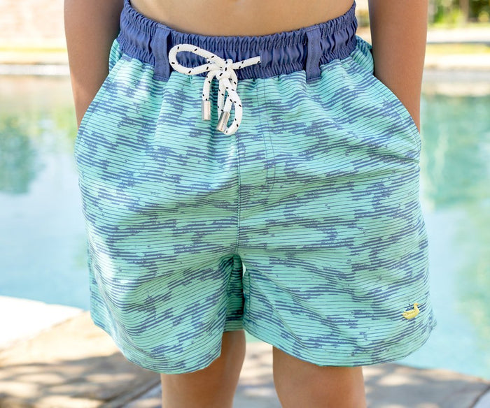 Southern Marsh Youth Dockside Swim Trunk- Schools Out