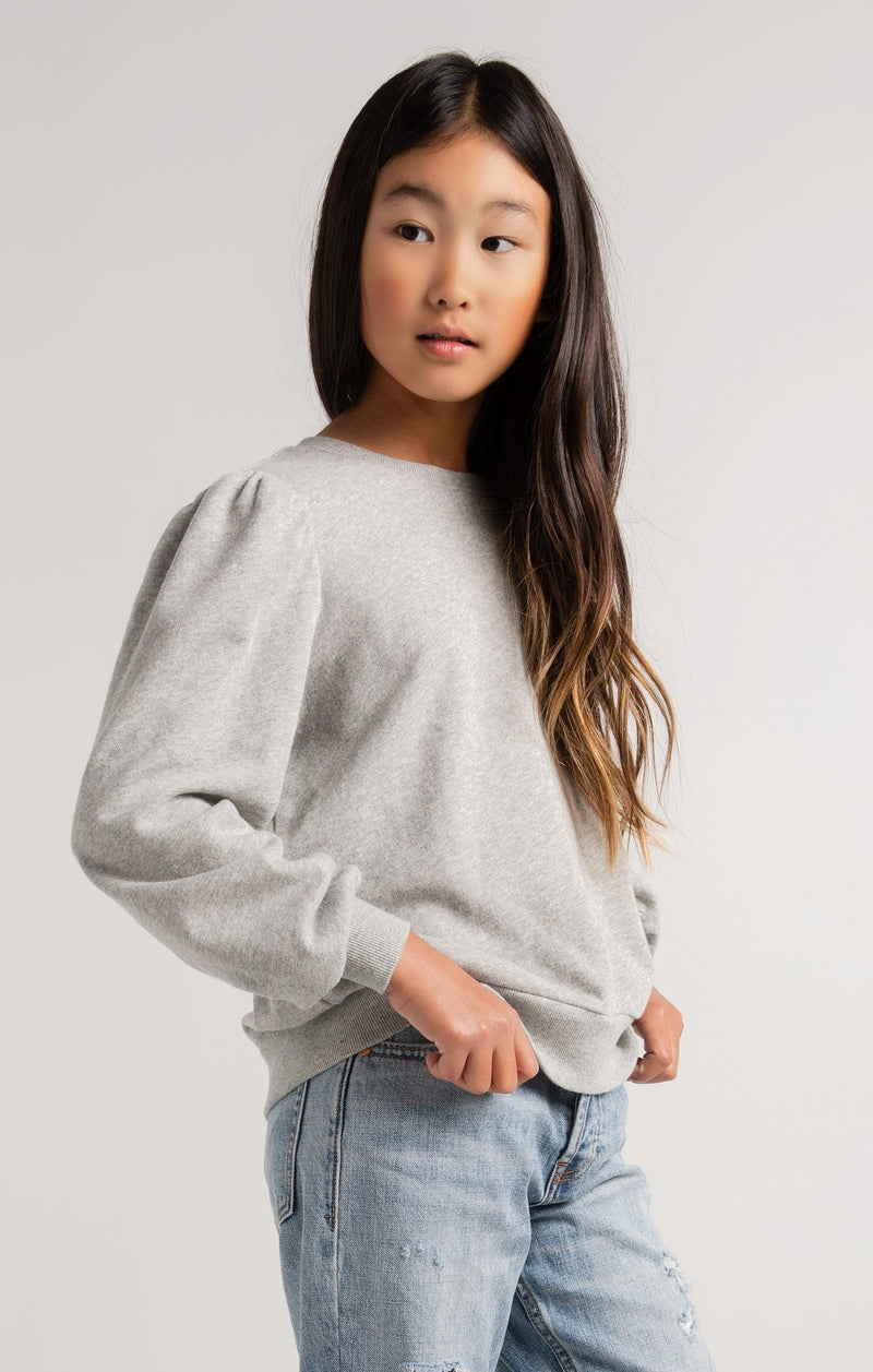 Z Supply Girls Zoe Terry Sweatshirt