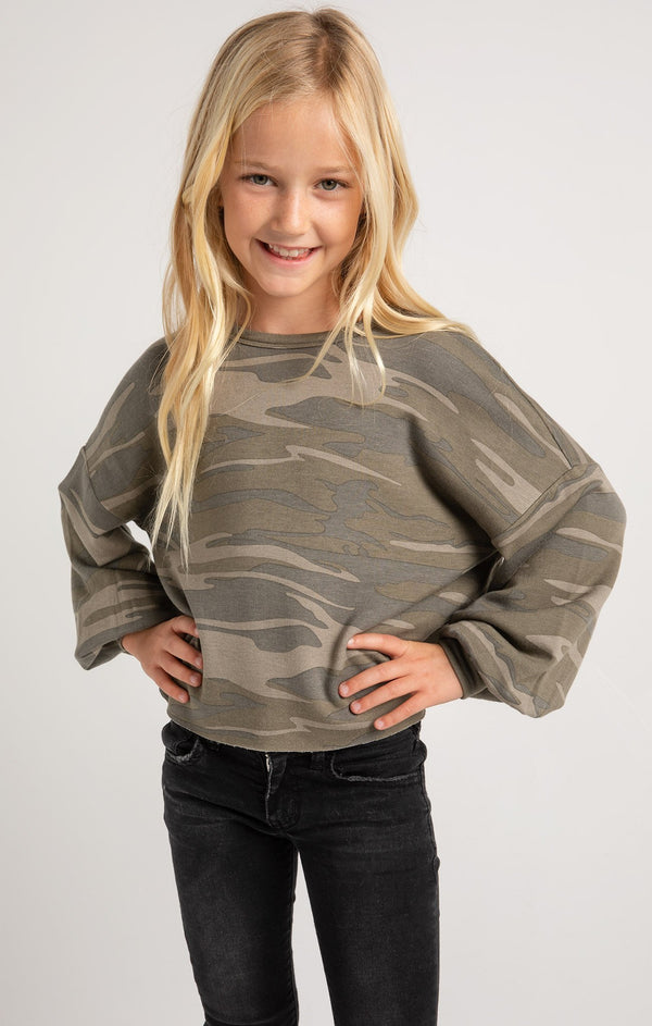 Z Supply Girls Mayori Camo Pullover