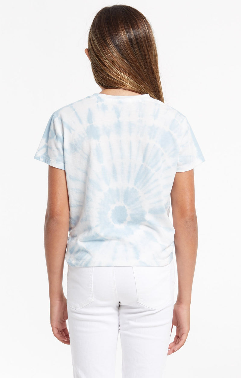 Z Supply Girls Teagan Sprial Tie Dye Tee