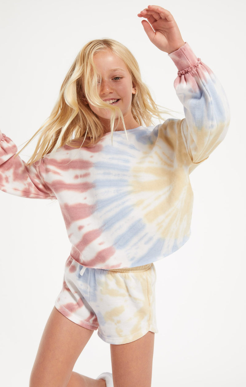 Girls Z Supply Mayori Tie-Dye Pullover