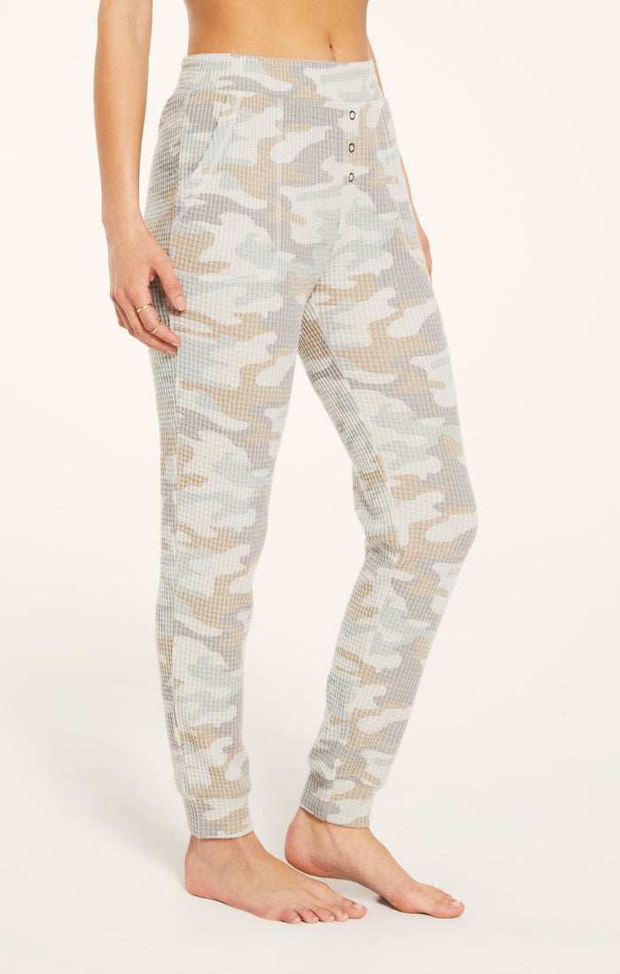 Z Supply Lounge Cozy Camo Jogger