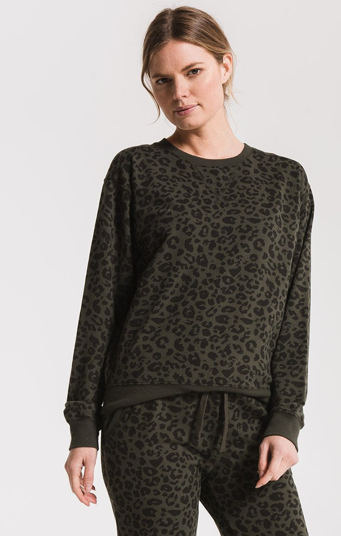 Z Supply Leopard Pullover- More Colors Available- ZT193994