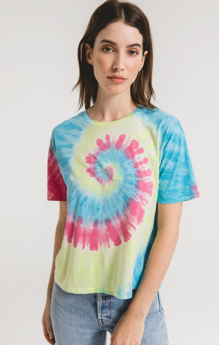 Z Supply Neon Tie-Dye Tee