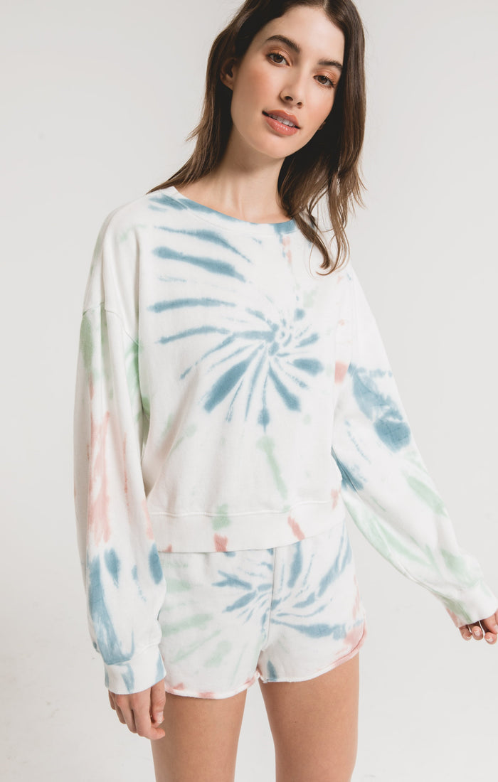 Z Supply Multicolor Tie-Dye Pullover