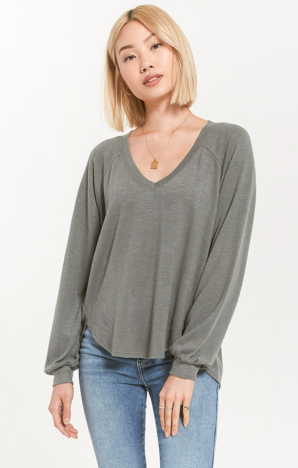 Z Supply Pilra Slub Sweater Top
