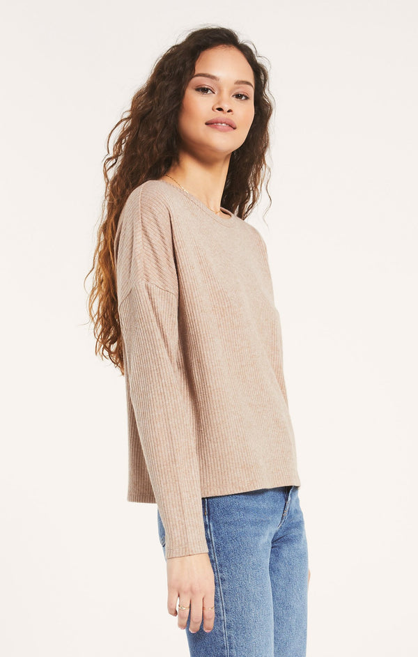 Z Supply Robbie Rib Long Sleeve Top