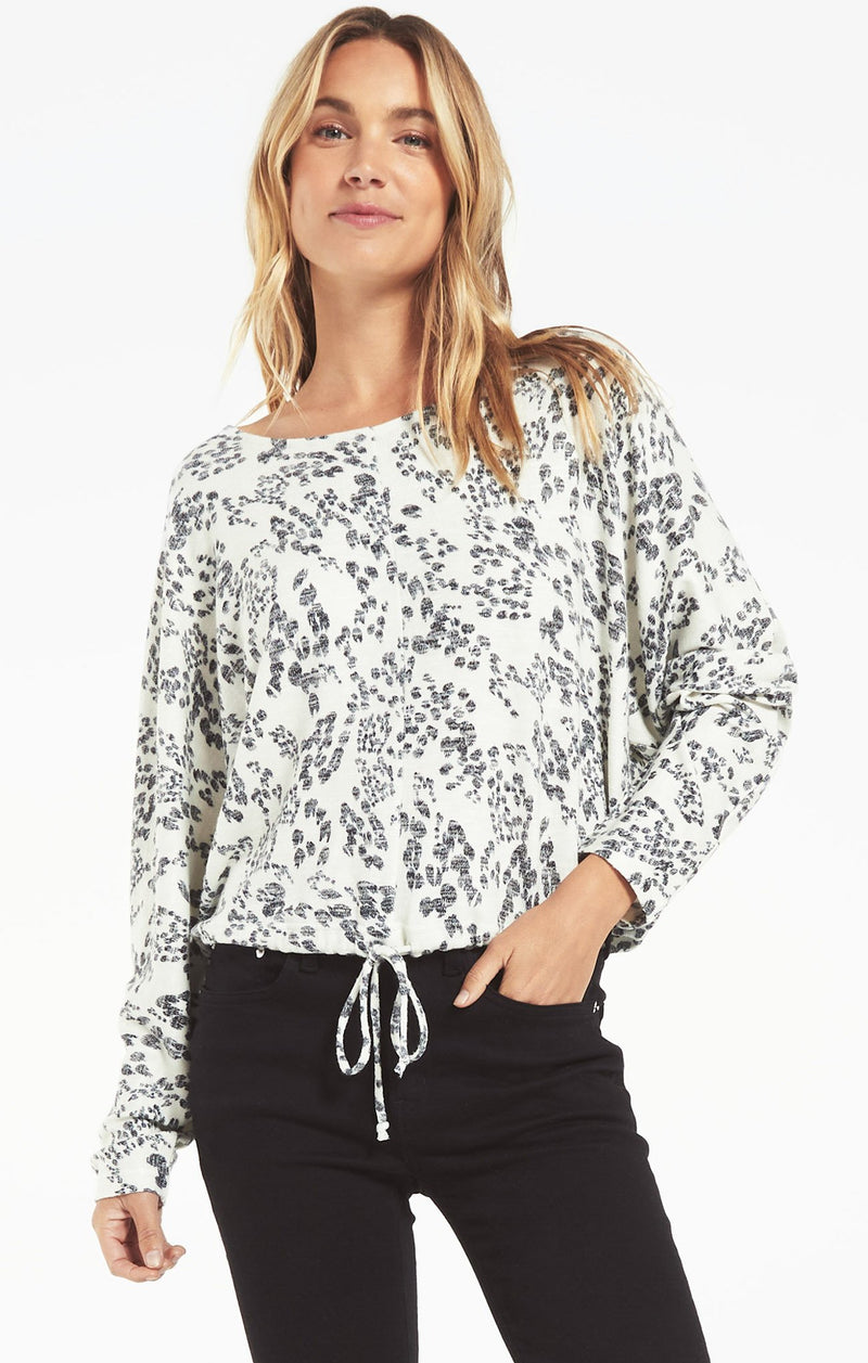 Z Supply Dollie Swirl Long Sleeve Top