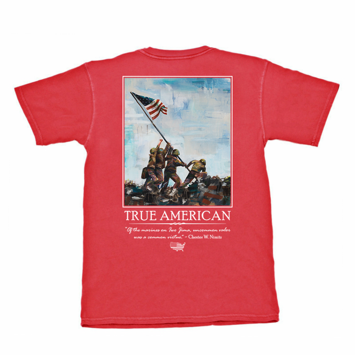 The State Company Iwo Jima Tee-Red- IWO JIMA S/S- RED