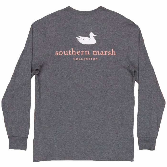 Southern Marsh L/S Authentic Tee- Midnight Grey