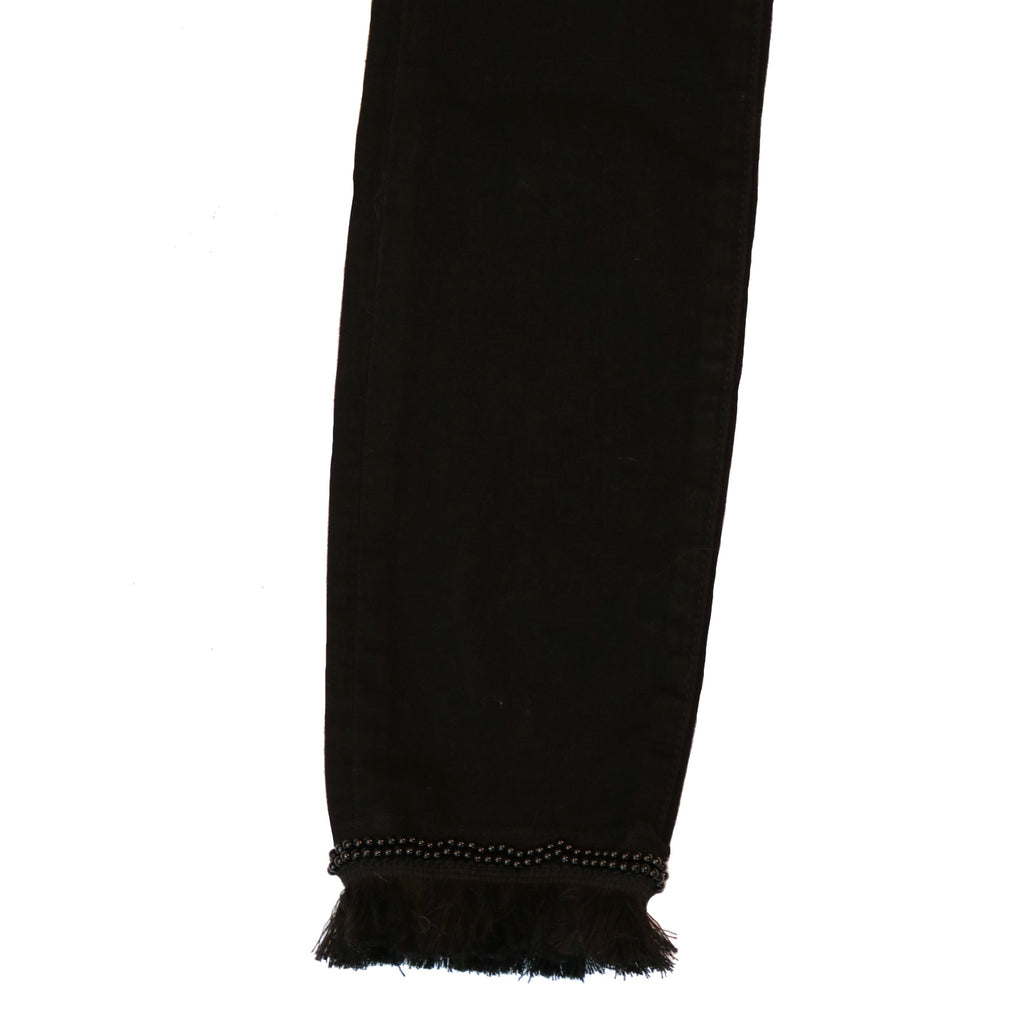 Sam Edelman Kitten Beaded Ankle Skinny-Black Rinse