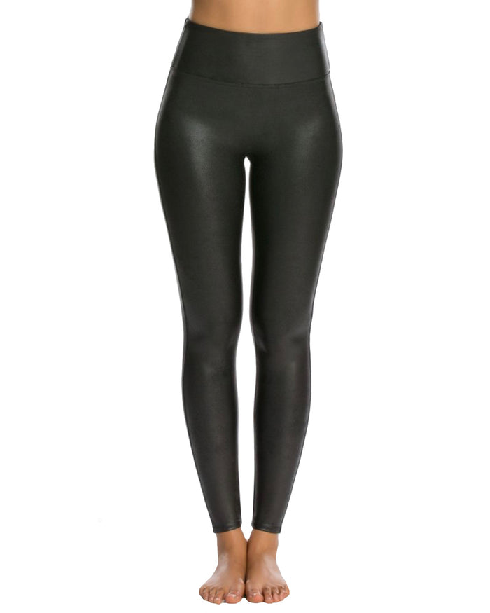 Spanx Faux Leather Legging- 2437-BLACK