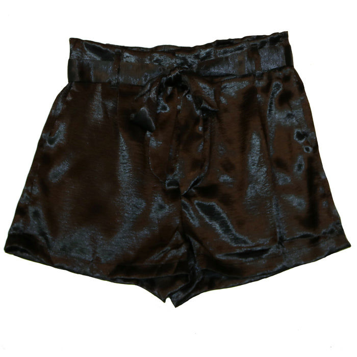 Satin Secret Shorts- Black- SL8318-BLK