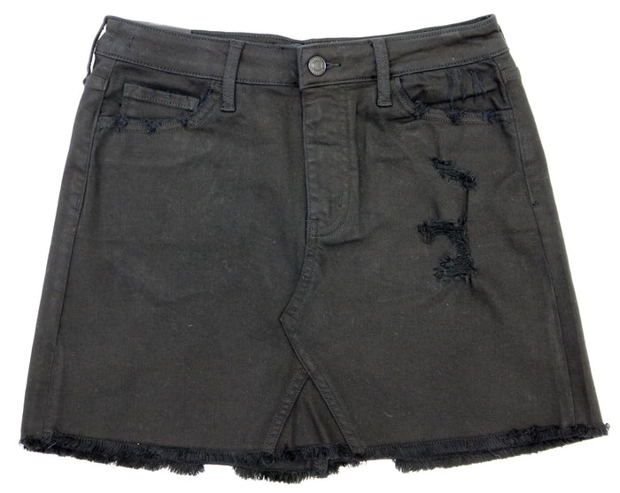 Vervet Distressed Denim Skirt