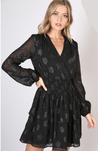 Fire In Her Eyes Dress- Black- 17794