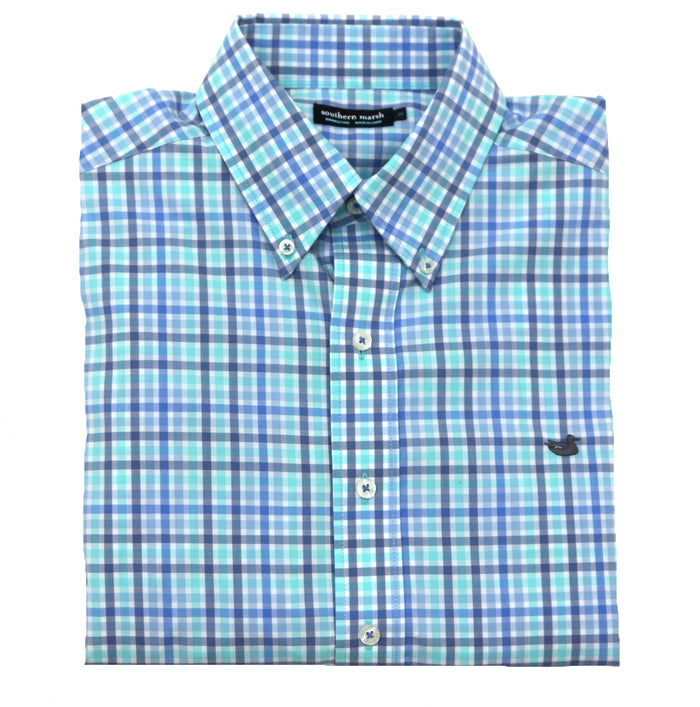 Southern Marsh Juban Check Button Down