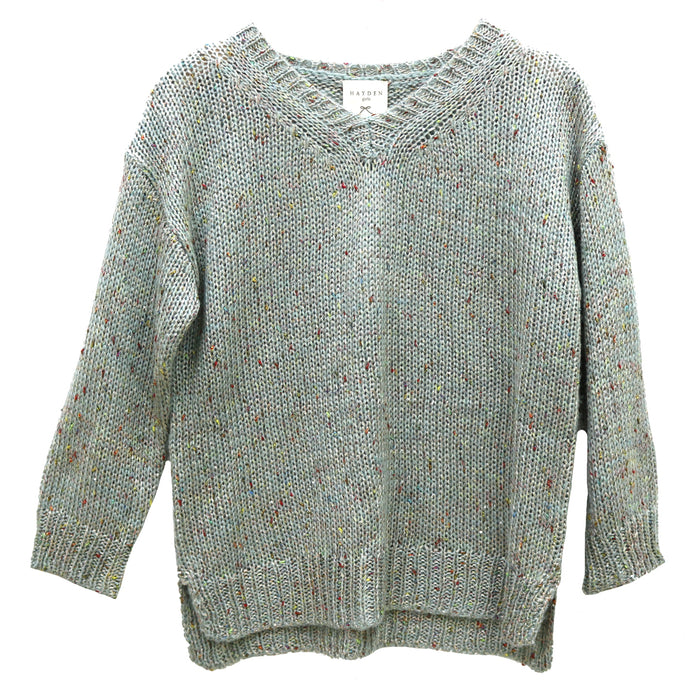 Girl's Confetti Party Sweater- Sage- G3771-SAG