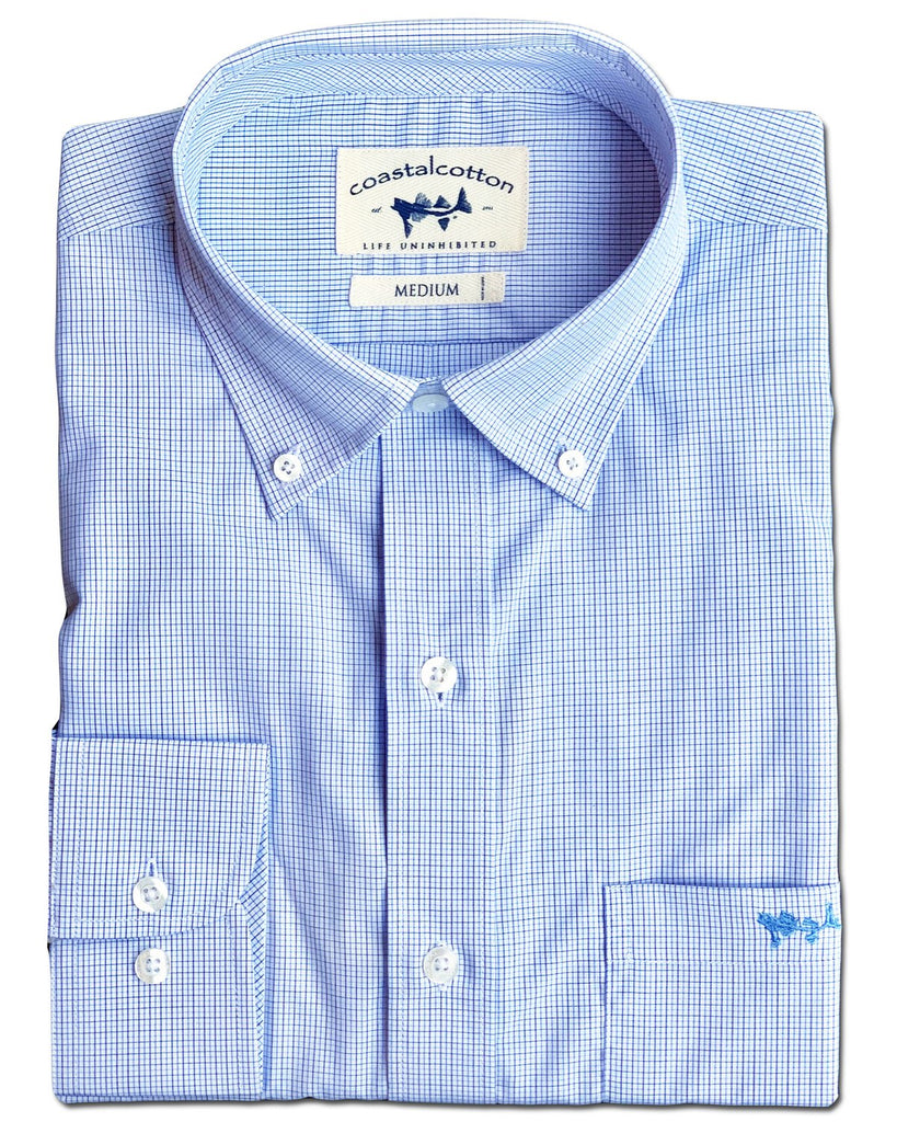 Coastal Cotton Wrinkle Free Long Sleeve Button Down