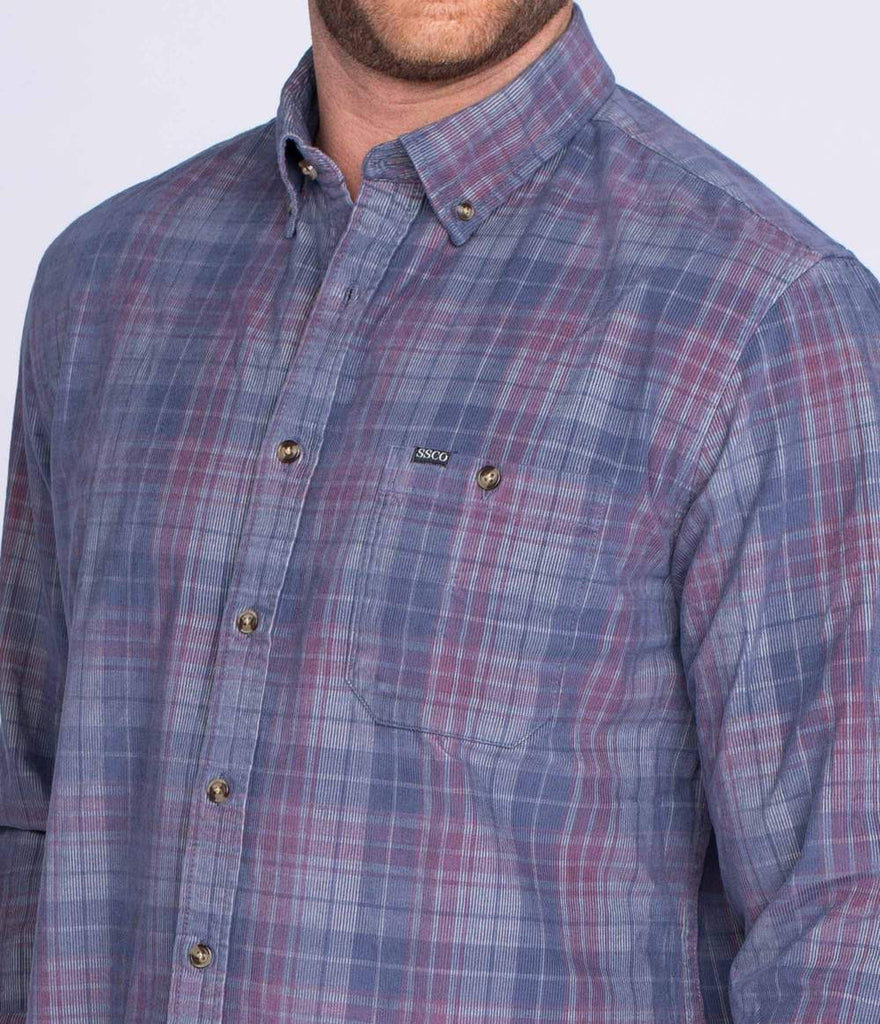 Southern Shirt Company Braxton Lightweight- Blue Night- BRAXTON LIGHTWEIGHT CORD-BLU