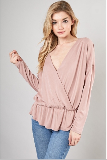 Make Her Mine Top- Rose- MUST S15054