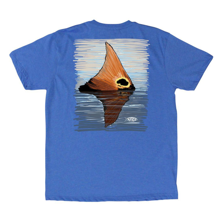 Aftco Youth Redtail S/S Tee- Sea Blue Heather
