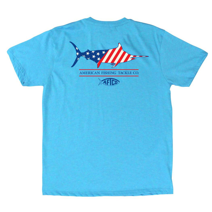 Aftco Youth Magnum S/S Tee- Neon Sky Blue Heather